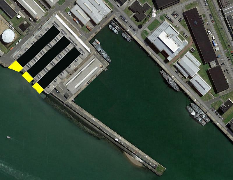 Réaménagement de la base navale de Zeebrugge - Page 3 Hangar23