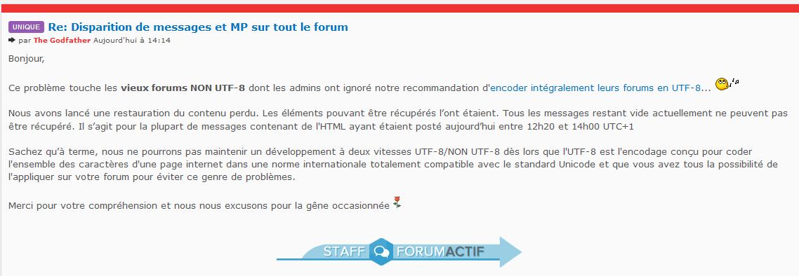 Problème pour poster sur le forum !!! Mmmm1k13