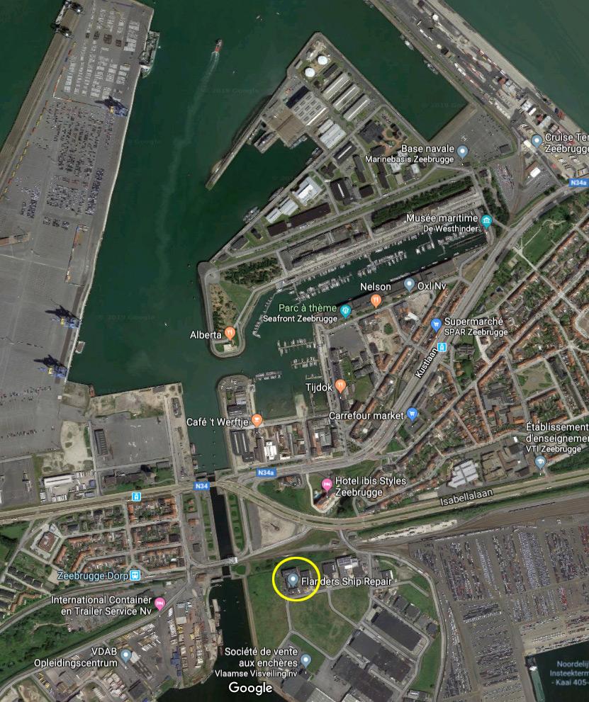Réaménagement de la base navale de Zeebrugge Mmmm1p34