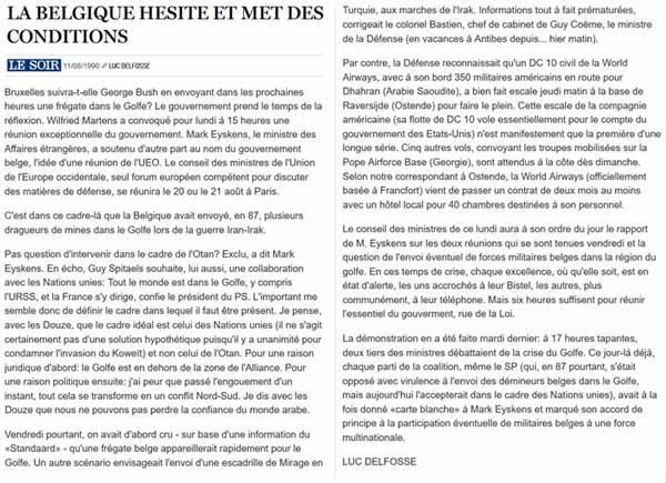 Southern Breeze dans les archives du journal LE SOIR P_soir10