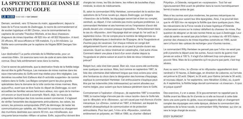 Southern Breeze dans les archives du journal LE SOIR P_soir12