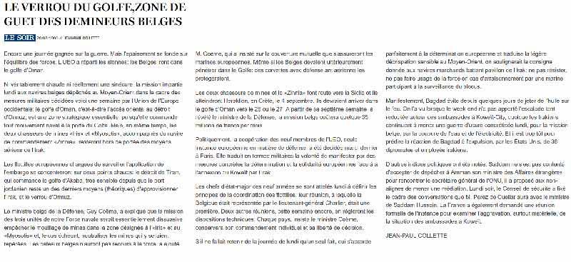 Southern Breeze dans les archives du journal LE SOIR - Page 2 P_soir22