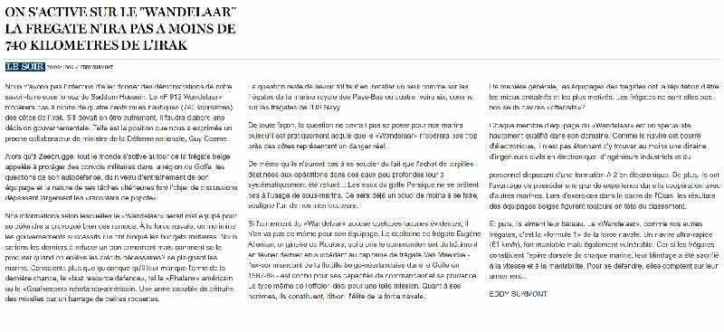 Southern Breeze dans les archives du journal LE SOIR - Page 2 P_soir34