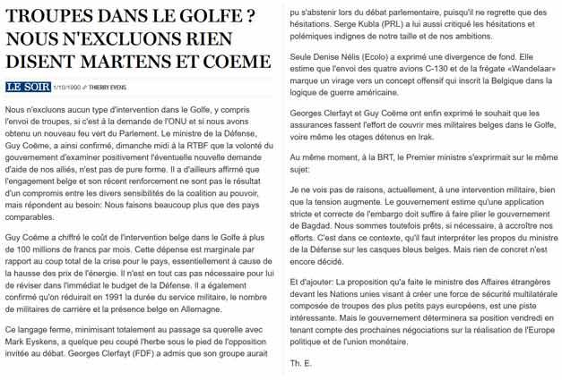 Southern Breeze dans les archives du journal LE SOIR - Page 2 P_soir35
