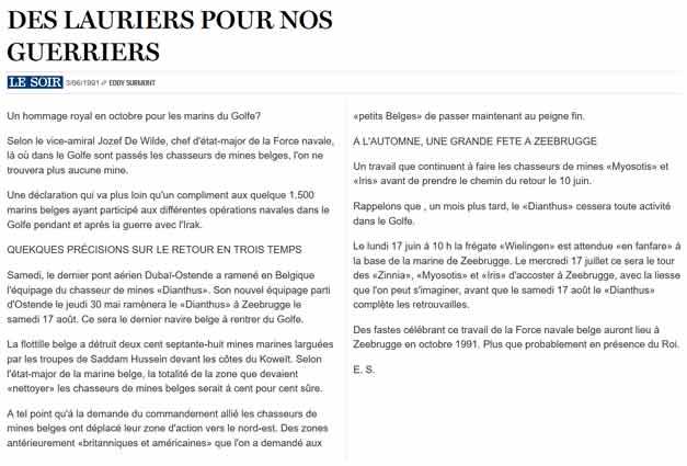 Southern Breeze dans les archives du journal LE SOIR - Page 7 P_soir95