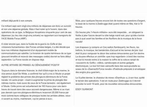 Southern Breeze dans les archives du journal LE SOIR - Page 7 P_soir98
