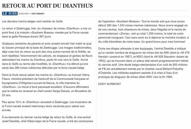 Southern Breeze dans les archives du journal LE SOIR - Page 7 P_soir99