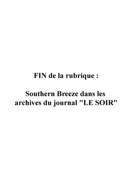 Southern Breeze dans les archives du journal LE SOIR - Page 7 Soir_911