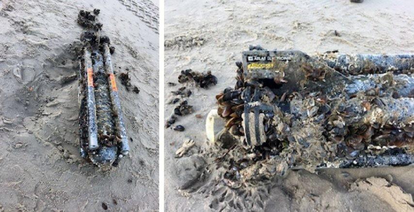 Une torpille belge s'échoue sur la plage de Fort-Mahon ! Torpil10
