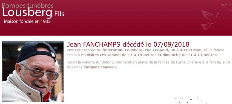 """Décès du membre """"Jean Fanchamps"""" ! Zone_o23"""