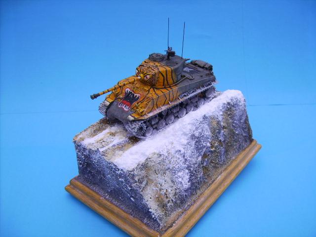 M4A3E8 sherman corée 1/72° E94110