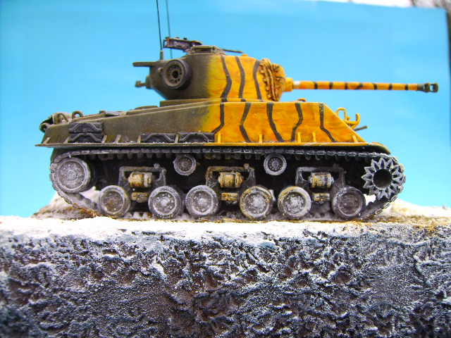 M4A3E8 sherman corée 1/72° E94910