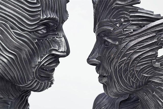 Une sculpture / un sculpteur en passant A118