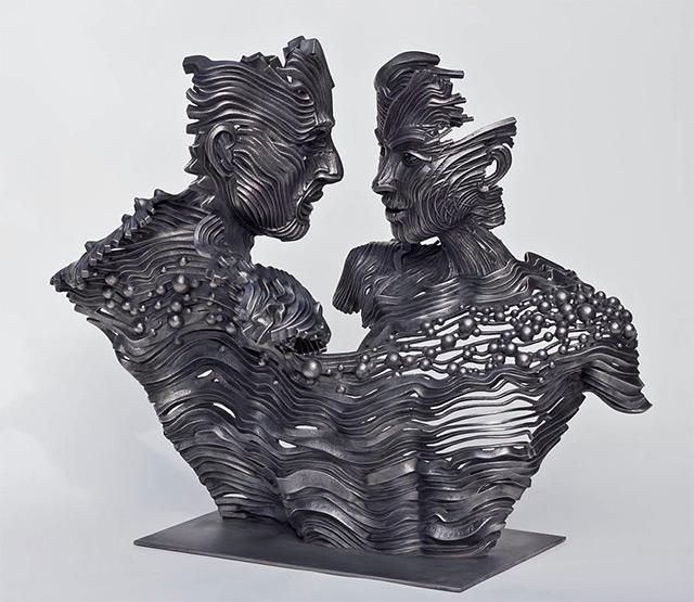 Une sculpture / un sculpteur en passant A119