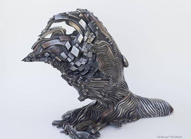 Une sculpture / un sculpteur en passant A120