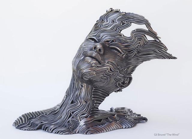 Une sculpture / un sculpteur en passant A121