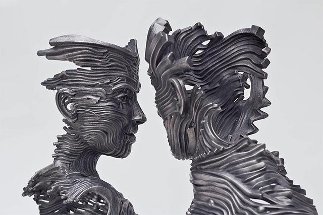 Une sculpture / un sculpteur en passant A123