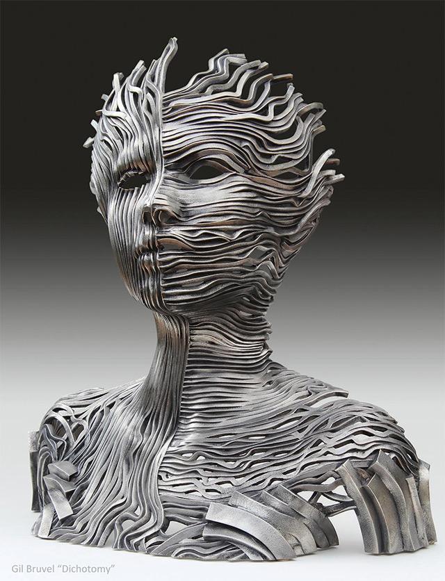 Une sculpture / un sculpteur en passant A124