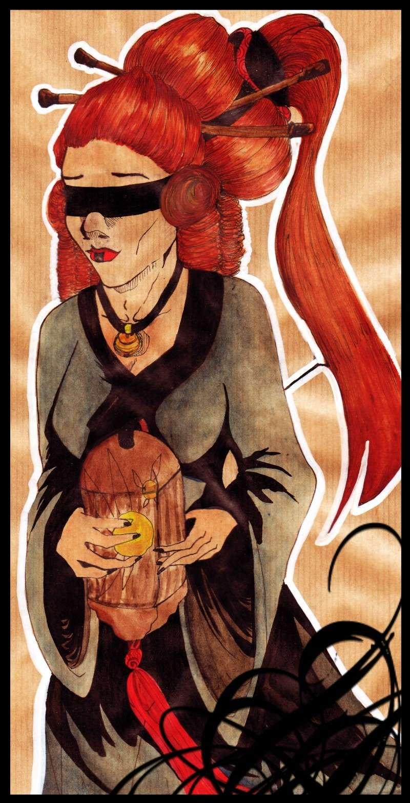délires psychique névrose psychologique, mes dessins quoi Geisha10