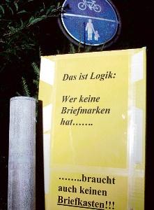 Zynische Diebe entwendeten Briefkasten der Räriner Straße Her-br10