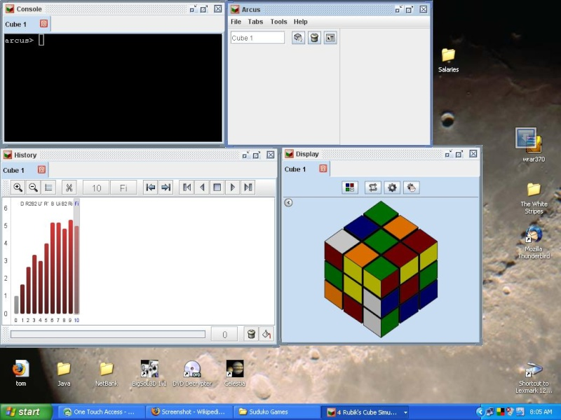 Free Open Source Rubics Cube and Solver Arcus_10