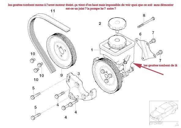 [ BMW e46 330d 204cv an 2003 ] fuite pompe de servo-direction Sansco10