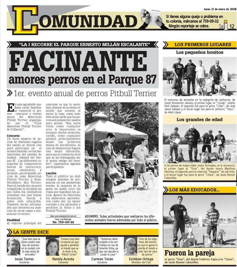 Evento de Culiacan en El periodico Repor210