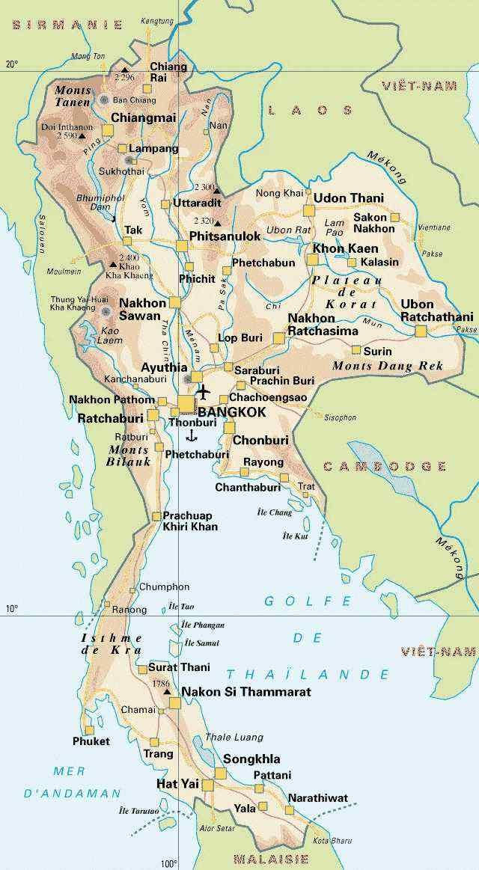 Thaïlande Carte210