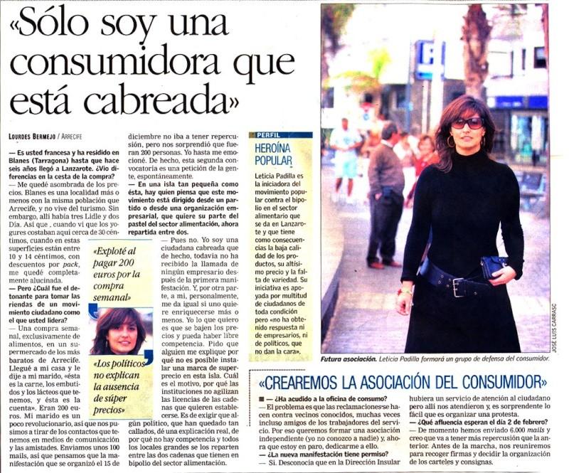 Entrevista en Canarias 7 Canari10