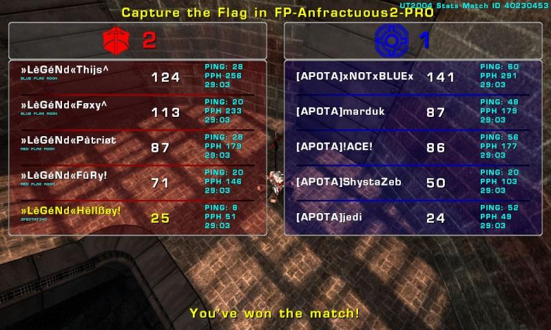 Match »LèGéNd« vs [APOTA]»2 Tuesday 09 September 2008 21:00 hours (ladder 5 vs 5) Legend10