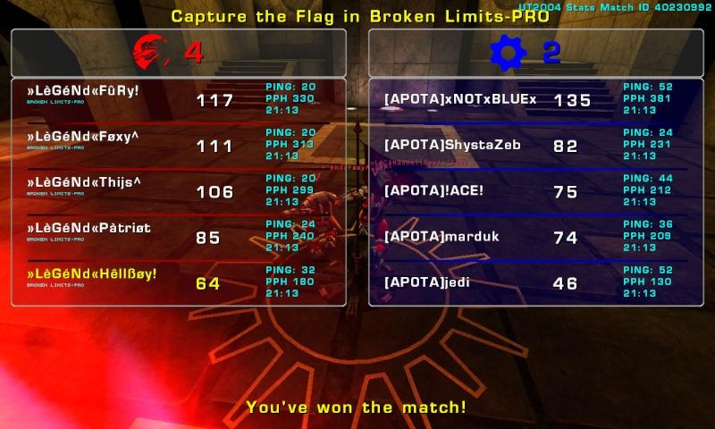Match »LèGéNd« vs [APOTA]»2 Tuesday 09 September 2008 21:00 hours (ladder 5 vs 5) Legend11