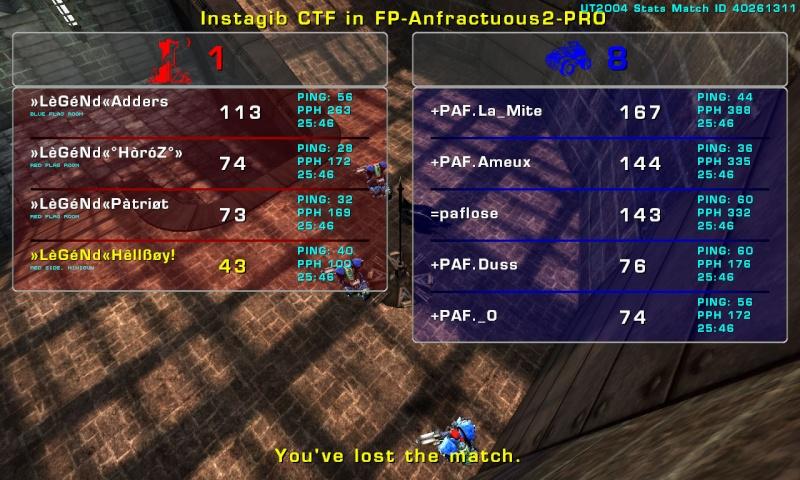 Match »LèGéNd« vs +PAF Thursday 11 September 2008 21:00 hours (ladder 5 vs 5) Legend13