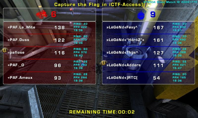 Match »LèGéNd« vs +PAF Thursday 11 September 2008 21:00 hours (ladder 5 vs 5) Legend14