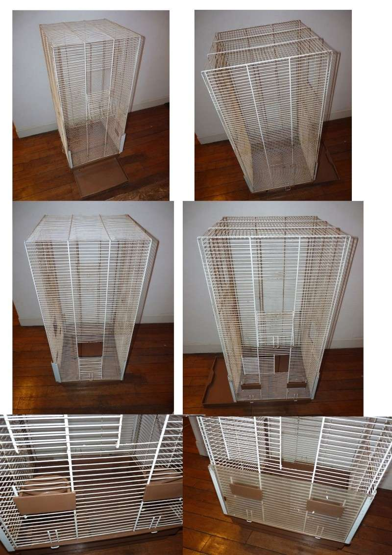 A vendre - Cage voliere + cage moyenne+accesoires (val d'oise -95- ) Grande10