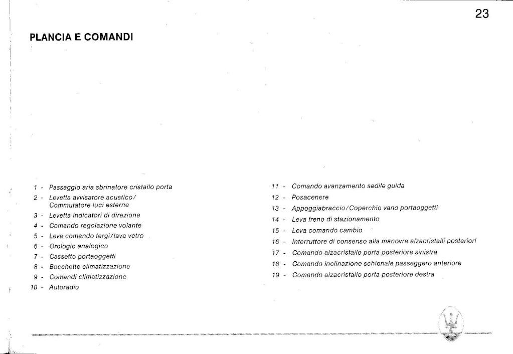 Comandi alzacristalli Biturbo 4 porte Manual12