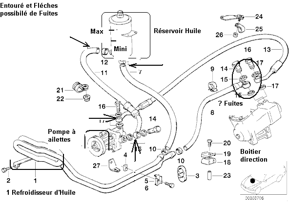 [ bmw E34 525 td an 1992 ] panne direction : bruit + dure 32_e_312