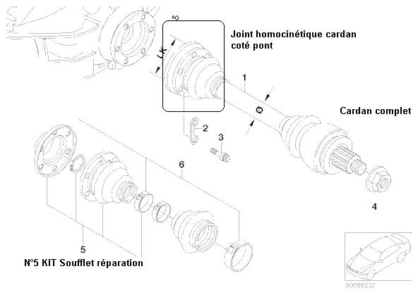 [ bmw e39 530D bva touring an 2003 ] recherche pièce entre différentiel et arbre de transmission 33_e_310