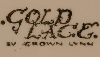 Gold Lace by Crown Lynn Gold_l11