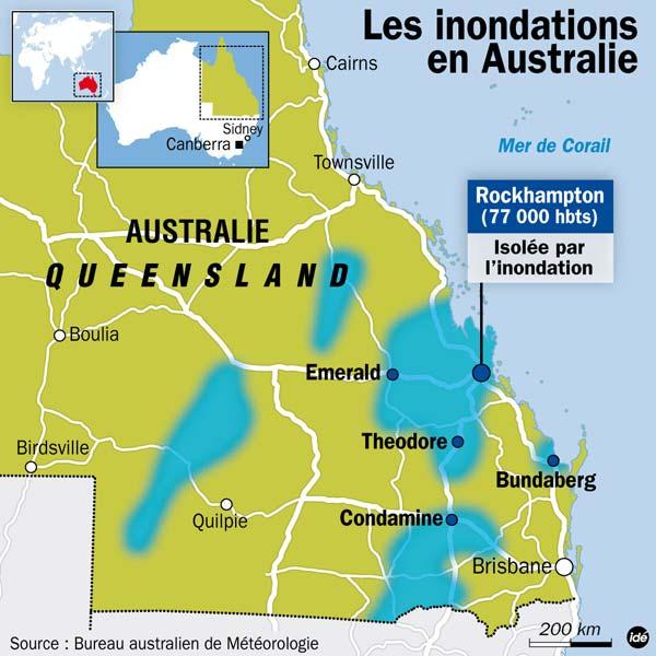 inondations en Australie (Queensland/Rockhampton) Austra10