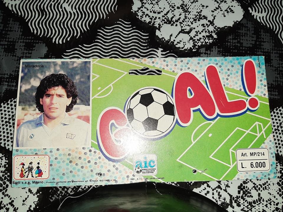Diego Armando Maradona Maschera Calcio NAPOLI Scudetto Campioni D`Italia anni 80 originale vintage rara 13946110