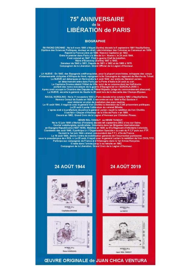 75ème ANNIVERSAIRE DE LA LIBERATION DE PARIS. Collec11