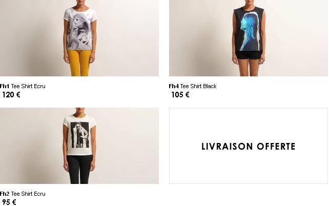 Quatre T shirts et un cabas (!) pour Françoise Hardy ... Maje10