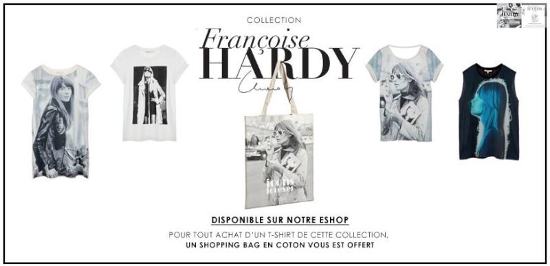 Quatre T shirts et un cabas (!) pour Françoise Hardy ... Maje110
