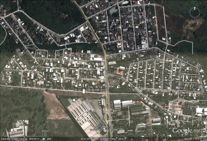 """Une énorme canalisation d'eau s'est rompue formant un """"mini tsunami"""" à Rio de Janeiro Canali10"""