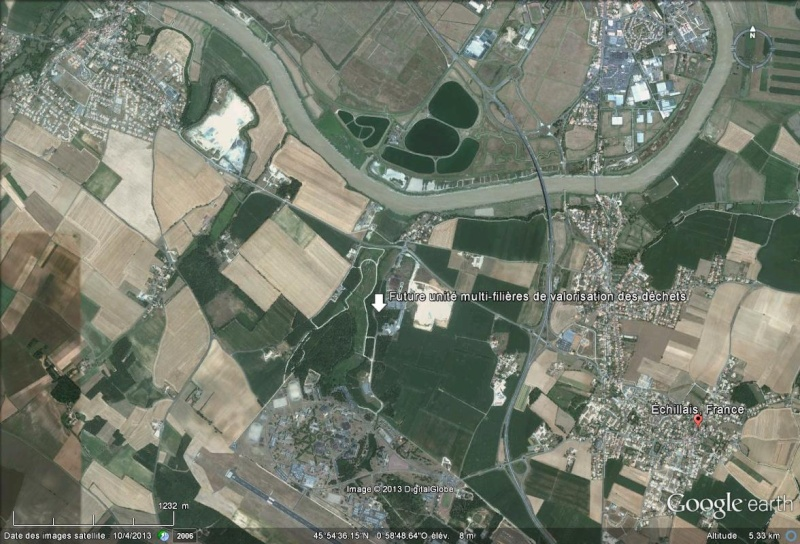 [Désormais visible sur Google Earth] - Unité multi-filières de valorisation des déchets, Echillais (17) Future12
