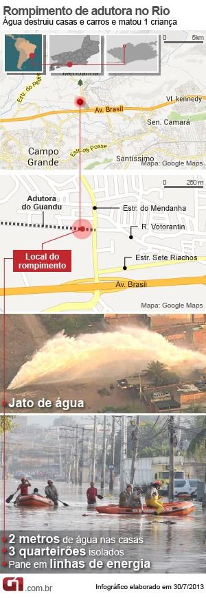 """Une énorme canalisation d'eau s'est rompue formant un """"mini tsunami"""" à Rio de Janeiro Mapa-a10"""