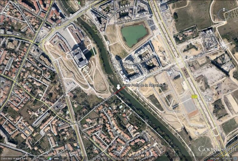 [Enfin visible sur Google Earth] - Montpellier Futur Pont de la République Montpe10