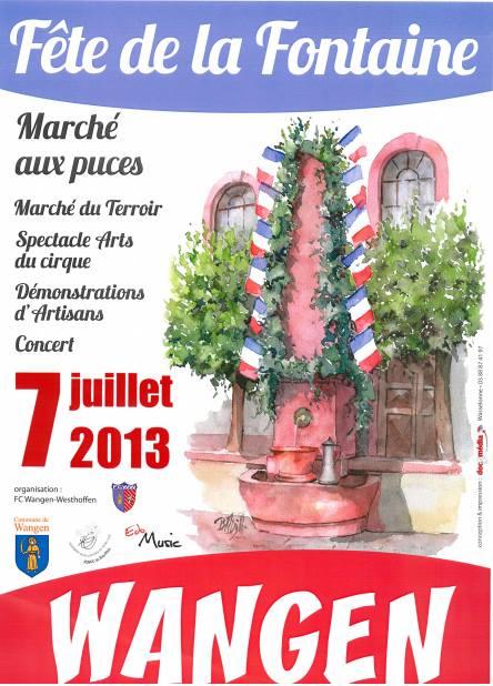 Fête de la Fontaine le 7 juillet 2013 Affich10