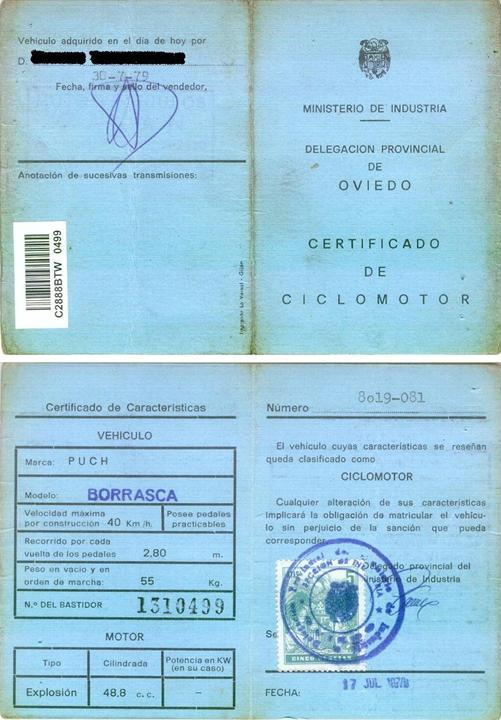 Puch Borrasca II 2ª serie - Dudas Certif14