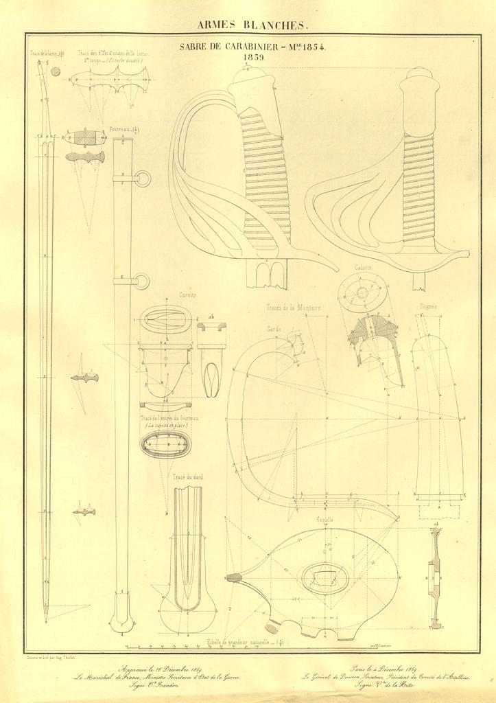 sabre de carabinier modèle 1854 18591210